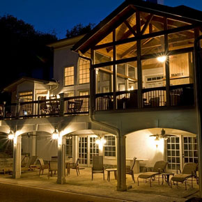 Porch and deck with outdoor lighting