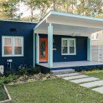 blue brick house