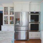 refrigerator in a kitchen