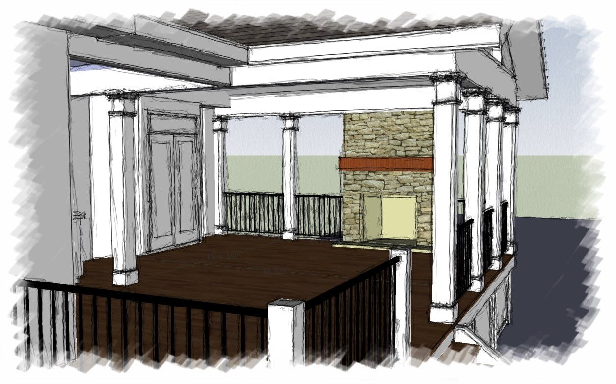 Johns Creek Covered Porch