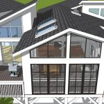 back view of porch rendering