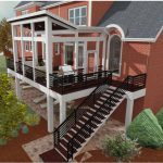 back deck to a brick house