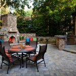 backyard patio with furniture